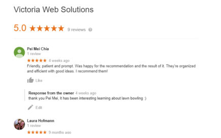Customer Reviews Victoria Web Solutions