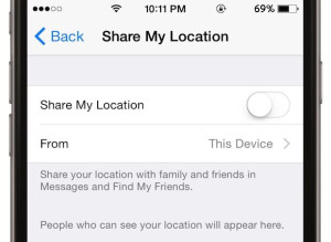 iOS 8 Share my Location
