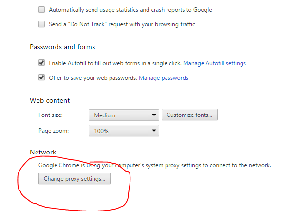 Windows 10 Chrome change proxy settings | Victoria Web Solutions
