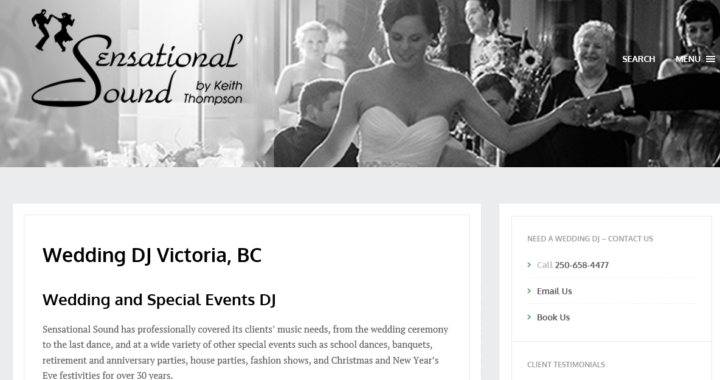 Sensational Sound Wedding DJ Victoria BC