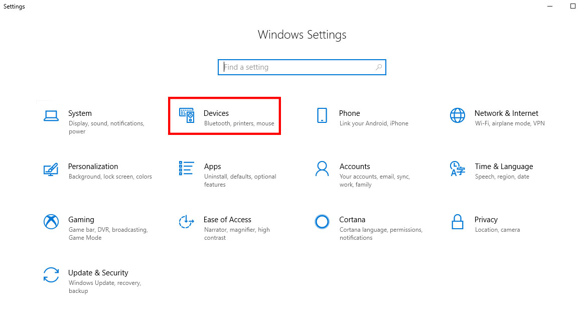 Windows 10 Keyboard settings